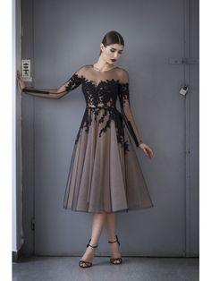 TULLE AND LACE DRESS - Rhea Costa-Shop