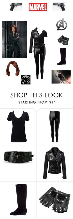 """Natasha Romanoff -- Black Widow"" by www-nyny ❤ liked on Polyvore featuring Marvel, Simplex Apparel, Miss Selfridge, Johnny Loves Rosie, WithChic and Prada"