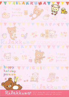 Rilakkuma bear Memo Pad picnic & lemonade 3