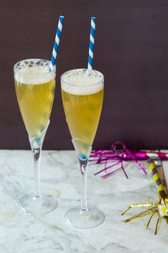 Ginger Fizz Champagne Cocktail
