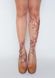Ideas for tattoo leg thigh cherry blossoms Tattoo Tights, Knee Tattoo, Fake Tattoos, Leg Tattoos, Blossom Tree Tattoo, Tattoo Tree, Tree Silhouette Tattoo, Shin Tattoo, Leg Thigh