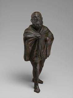 Bronze statuette of a draped man, 1st century B.C.–1st century A.D. Greek or Roman. The Metropolitan Museum of Art, New York. Rogers Fund, (07.286.96)