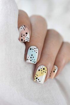 Cute Gel Nails, Diy Nails, Swag Nails, Art D'ongles Pastel, Pastel Nails, Jolie Nail Art, Subtle Nails, Nagellack Design, Basic Nails