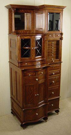 Ransom & Randolph Co. Oak Dental Cabinet - Cabinet#66
