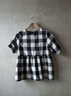 As is - love the B+W gingham. Fabric from Tessuti / HT?