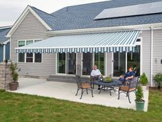 Retractable Awnings provide cool shade, substantially lowering air conditioning bills, and protect valuable furnishings and carpets from fading.