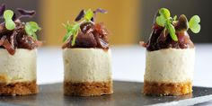Goat's cheesecake with red onion jam