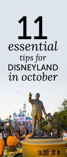 11 Must-Know Tips for Disneyland in October