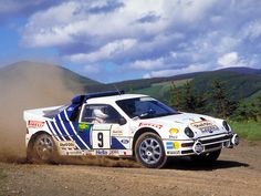 Stig Blomqvist. Ford RS200 rally car - Group B. 1986 Acropolis Rally