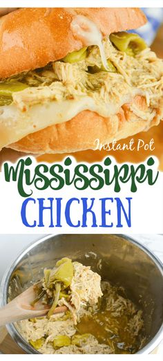Instant Pot Mississippi Chicken is one fantastic chicken recipe. Mississippi chicken is juicy and full of a ranch and pepperoncino flavor in every bite. Easy Chicken Recipes, Pork Recipes, Cooking Recipes, Healthy Recipes, Healthy Chicken, Crockpot Recipes, Ninja Recipes, Chicken Ideas, Pasta Recipes