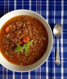 Mom's   Faki - Lentil Vegetable Soup Revisited