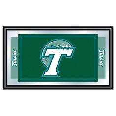 Tulane Green Wave Team Logo Wall Mirror,