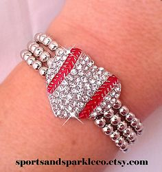 Hey, I found this really awesome Etsy listing at https://www.etsy.com/listing/169144247/sporty-rhinestone-crystal-baseball-heart