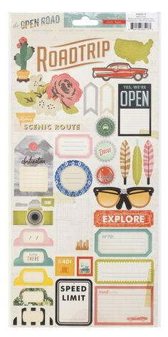 perfect for a road trip mini! I mean..that cactus sticker...Open Road accent stickers @Studio_Calico