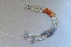 Stringing a multi-strand bracelet: Attach the Second Strand of Beads