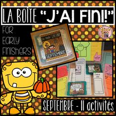 Each month will include between activities for students to choose from. The activities will vary from month to month. They will mostly include literacy and interactive activities and one math related activity. Classroom Calendar, Classroom Labels, Classroom Jobs, Classroom Activities, French Teaching Resources, Teaching French, Reading Strategies Posters, Math Word Walls, Early Years Classroom