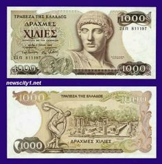 Greece Drachmae banknotes for sale. Dealer of quality collectible world banknotes, fun notes and banknote accessories serving collectors around the world. Over 5000 world banknotes for sale listed with scans and images online. French West Africa, East Africa, Belgian Congo, African States, St Pierre And Miquelon, First Day Covers, World Coins, Coin Collecting, Greece