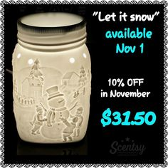 """New November warmer of the month! """"Let It Snow"""" would be a great holiday gift for anyone in your family."""
