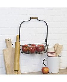 Our Metal Wire Wall Basket is the perfect way to store your tomatoes in simple, farmhouse fashion! You'll love its chicken wire basket and rustic, wood handle. Metal Wall Basket, Hanging Wall Baskets, Wire Baskets, Home Office Lighting, Outdoor Lounge Furniture, Wall Organization, Antique Metal, Furniture For Small Spaces, Wooden Handles