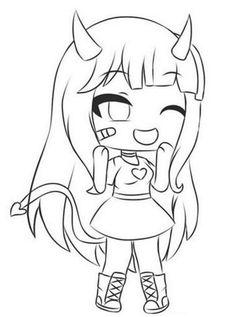 Dibujos de Gacha Life Para Colorear. Gran colección. Imprimir gratis Chibi Coloring Pages, Coloring Pages For Girls, Cute Coloring Pages, Anime Drawings Sketches, Anime Sketch, Easy Drawings, Pony Drawing, Drawing Base, Cute Anime Chibi