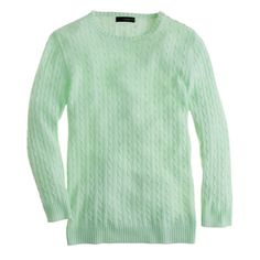 Collection cashmere mini-cable sweater/