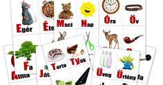 KreaSarok: Nyomtatható szótanuló kártyák a magyar ABC betűivel