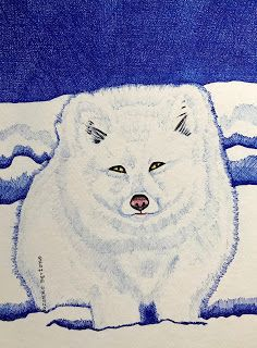 White Arctic Fox at Park Omega Canada Arctic Fox, Canadian Art, Omega, Canada, Park, Animals, Fictional Characters, Animales, Animaux