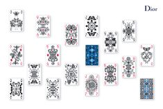 The deck of cards are inspired by Christian Dior's gardens in Granville, Milly-la-Forêt, and La Colle Noire. They were designed by Michaël Cailloux and also include Monsieur Dior's personal lucky charm, the four-leaf clover. #dior #playingcards #design #michaelcailloux #christiandior #fashion #beauty #hungertv