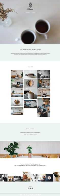 Love Oldhand Coffee's gorgeous, yet minimalist site running on Station Seven's Coastal theme #wordpress #webdesign