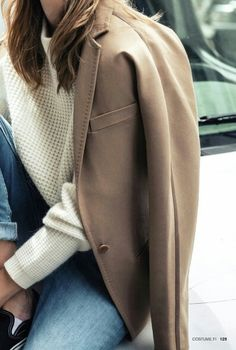 fall inspiration #camel #jeans