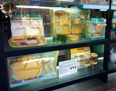 Great window display of our Mother's Corn products!