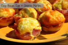 Easy Bacon Egg and Cheese Muffin Recipe.  5 Minute prep and pop them in the oven.