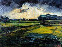 Arnout Colnot, Amsterdam 1887-1983 Bergen, Landschap, olieverf op doek, 62 x 49 cm,