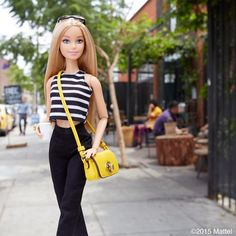 """Style tip: don't be afraid of a pop of color!  #barbie #barbiestyle"""