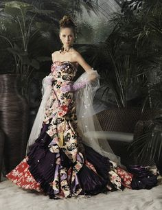 Stella de Libero elegant wedding dress, Stella de Libero, gown, couture, wedding, bridal, dress, fantasy, flowers, flower, floral, flora, fairytale, fashion, designer