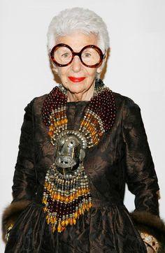 Iris Apfel une des femmes les plus stylées du monde.