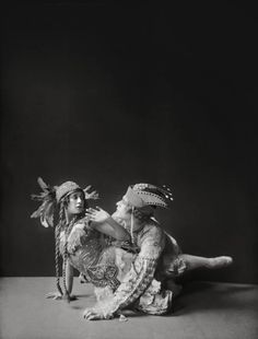 Tamara Karsavina and Adolph Bolm in The Firebird, 1911, photo by E.O. Hoppé