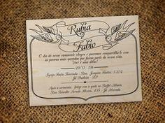 Convite Casamento Tattoo Clássico (50 unidades)