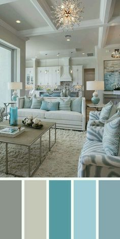 Exceptional A Calming Sea Of Blues For Color Scheme. Blue Decor With Other Tones Of  Color.