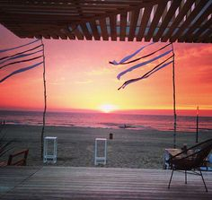 Barbarossa beachclub bar restaurant beach Scheveningen sunset