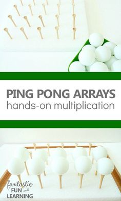 Ping Pong Arrays Hands-On Multiplication Activity perfect for students with special learning needs who need more visual examples and support.