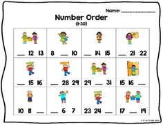 FREE math center for kinders or beginning firsties!