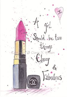 Classy & Fabulous Art Print 4x6 by claireswilson on Etsy, $12.00