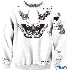 Harry styles tattoo crew neck sweatshirt at fresh tops Harry Styles Tattoos, Harry Styles Tattoo Sweater, Tatuajes Harry Styles, Harry Tattoos, One Direction Outfits, One Direction Harry Styles, Emoji, Boys With Tattoos, Fresh Tops