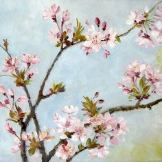 Very pretty painting of spring blossoms.