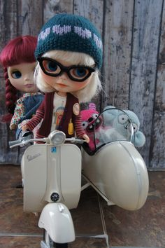 Sunday giving the whole gang a ride on her new Vespa.