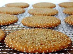 Receta de galletas de sésamo y miel. Deliciosas galletas fáciles de sésamo y miel. Por Lolita la pastelera