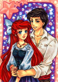 The Little Mermaid is my favorite Disney movie. I also really love anime, so having them together is great!