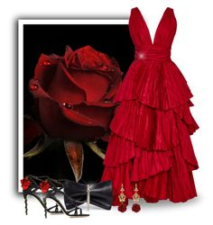 """""""Red Roses Fave"""" by majezy ❤ liked on Polyvore featuring Oscar de la Renta, Jimmy Choo and Dolce&Gabbana"""