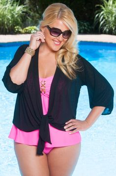 6b6e4f7eb29 Always For Me Sheer Plus Size Cover Up Jacket